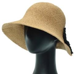 [더그레이]DKP10.밀짚 빅리본 여성 여름 비치 모자