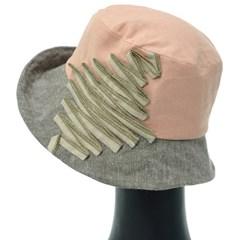 [더그레이]DKU20.테입배색 여성 벙거지 모자 버킷햇