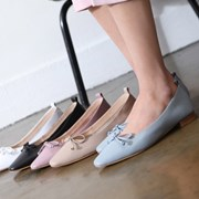 kami et muse Feminine ribbon leather flat_KM18s059
