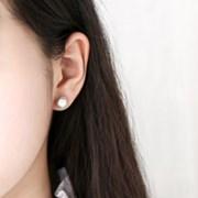 쉘 라운드 엔틱 귀걸이