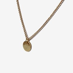 [RUSHOFF]Gold Daily Circle Necklace/골드데일리써클 목걸이