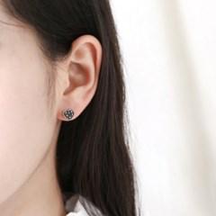 마카사이트 미니 하트 귀걸이