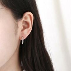 [925실버] 서클 리드 링 귀걸이
