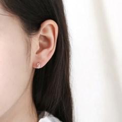 [925실버]도넛 리드 링 귀걸이