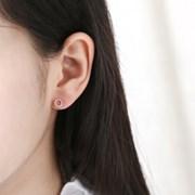 [925실버]도넛 라운드 귀걸이