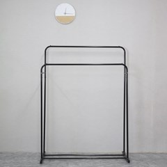밀크행거1단(대)-블랙
