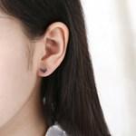 솔져 실버 귀걸이