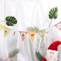 페이퍼 크리스마스 삼각배너 (그림)