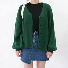 Basic puff cardigan