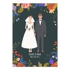 DIY 신혼부부, 커플초상화, 웨딩 일러스트 포스터