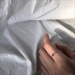 Heart garnet ring (실버 하트 가넷 반지) [92.5 silver]