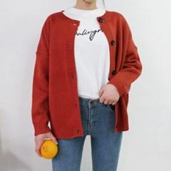 Round simple cardigan