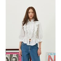 Frill Collaret Blouse in White