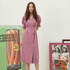[재입고] Puff Button Dress In Lavender Pink