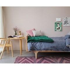 Square cushion - blush & peach blossom (30x30cm)