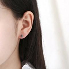 (9월 탄생석) 사파이어 플라워 귀걸이