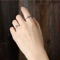 (3월 탄생석)아쿠아마린 심플 반지