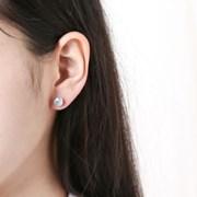 (3월 탄생석)아쿠아마린 하트 귀걸이