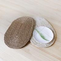 해초 매트 - 타원형(식탁매트)