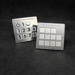 사각 스탠드형 메탈주차번호판