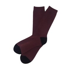 Urban Classic Rib Socks-Marron