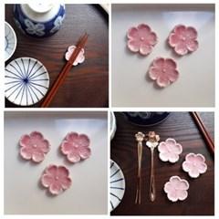핑크 벚꽃 젓가락받침 1p