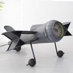 빈티지철제 비행기 시계(1529)