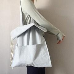 cotton shirring bag-sky