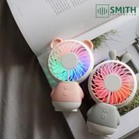 레인보우 LED 미니선풍기