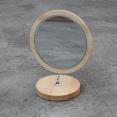 빠띠라인 원목후레임원형반달 거울-소 YA