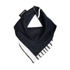 [coucou] 유아용 양면 더블거즈 스카프빕 Stripe Black
