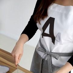 알파벳 화이트 앞치마