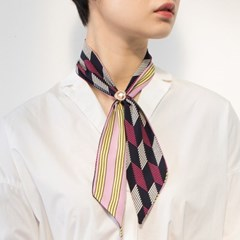 double color tie scarf