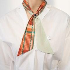 cherry check tie scarf