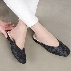 ami et muse V-top mash flat slippers_KM18s113