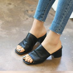 kami et muse Toe open middle heel slippers_KM18s112