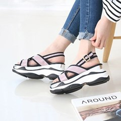 kami et muse Cross strap platform sandals_KM18s110