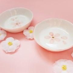 벚꽃시리즈 (간식볼-원형벚꽃식기)