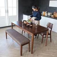 알마 1608 4인용 식탁세트(벤치1+의자2ea포함)