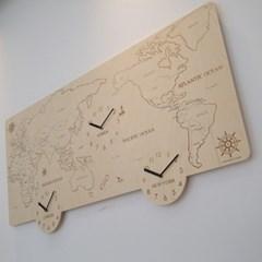 콜럼버스 세계지도 벽시계