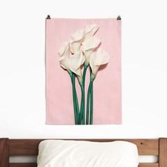 패브릭 포스터 F221 꽃 식물 인테리어 액자 백합