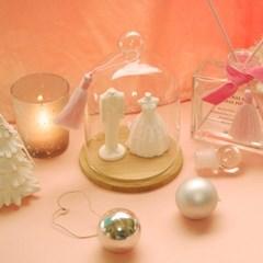 메리미 웨딩 석고오너먼트(리필오일포함)+글라스돔세트(추가옵션)
