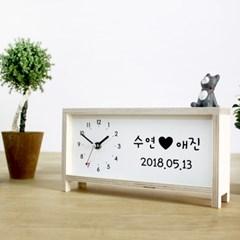 무소음 자작나무 이니셜 시계 U&I