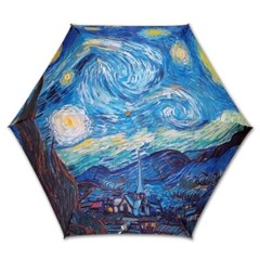 명화_우블리-고흐 별이 빛나는 밤에 5단미니 우양산