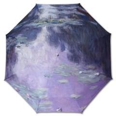 명화_우블리-모네 수련 우산양산겸용 3단자동우산