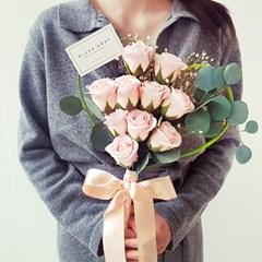 비누꽃 하트안개 꽃다발