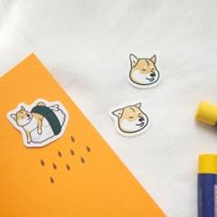 시바견 고양이 조각스티커 - 7type