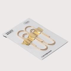 골드페이퍼클립 gold plated steel paper clip