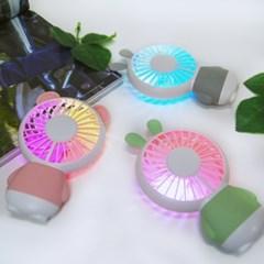무디 LED USB 충전식 미니 탁상 휴대용 핸디 선풍기