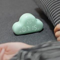 소리센서, 날짜, 온도 기능이 있는 구름 알람 시계